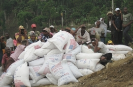 A grain shipment to Haiti