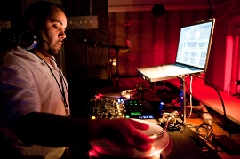 Anthony Veliz at work in a nightclub